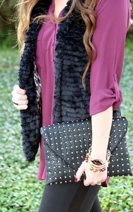Sunshine & Stilettos Blog: Faux Fur and Leather...