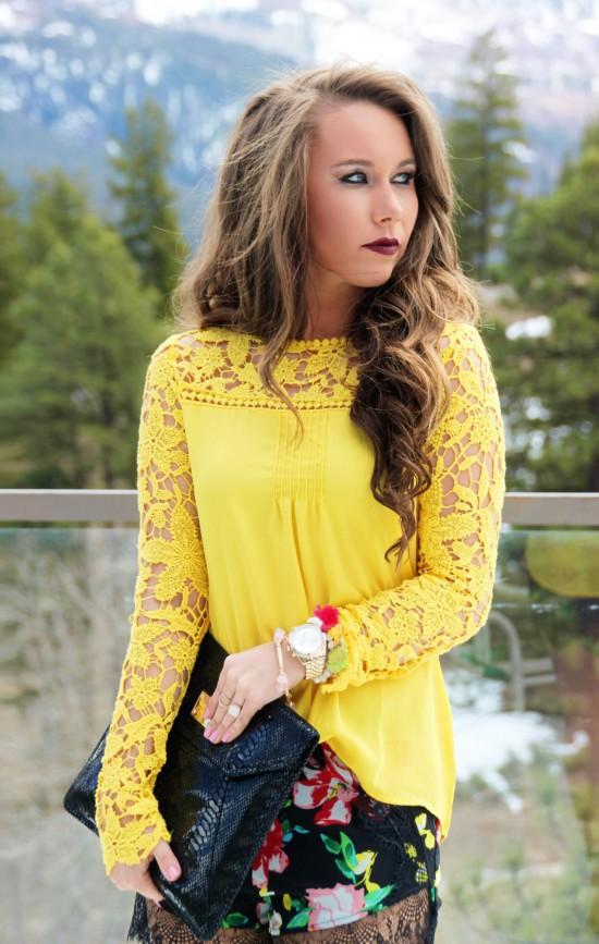 Sunshine & Stilettos Blog: Floral and Lace Shorts...