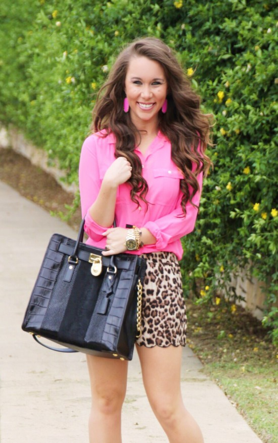 Sunshine & Stilettos Blog: Leopard Scalloped Shorts...