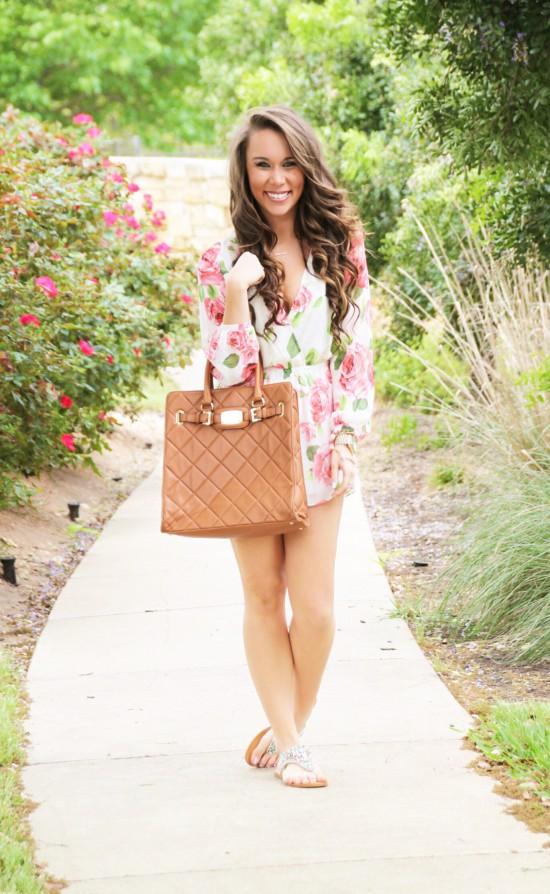 Sunshine & Stilettos Blog: Floral Romper...