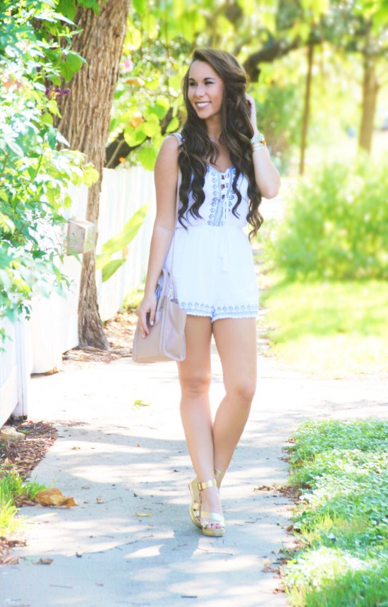 Embroidered Romper $18.99